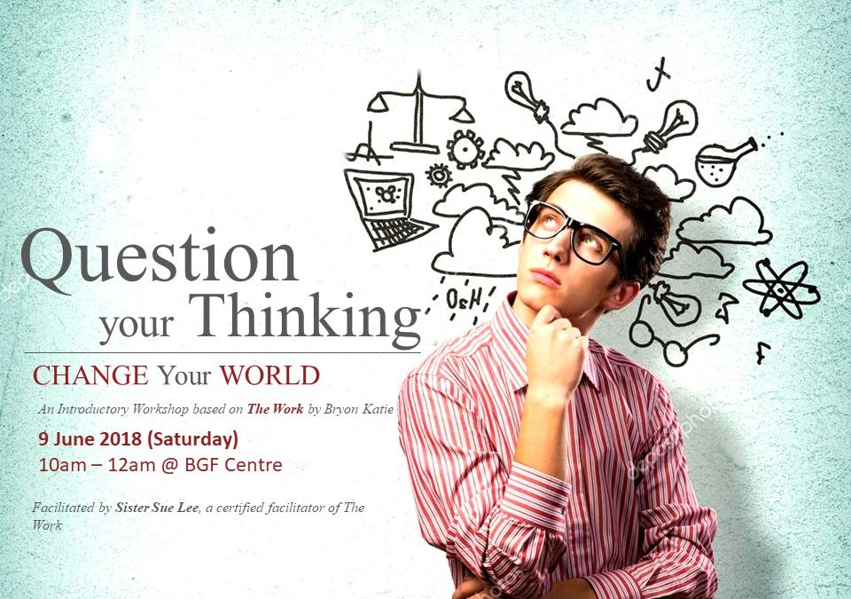 Question Your Thinking, Change your World – An Introductory Workshop Based On Bryon Katie's The Work