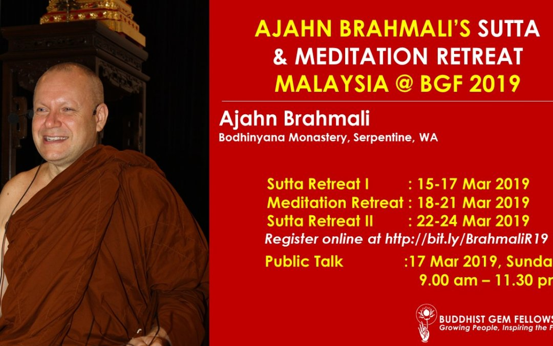 Ajahn Brahmali's Sutta & Meditation Retreat 2019