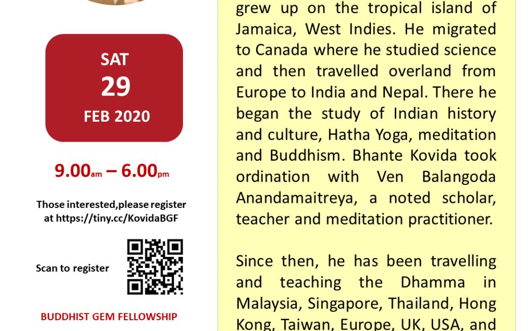 One Day Mindfulness Retreat With  Bhante Kovida
