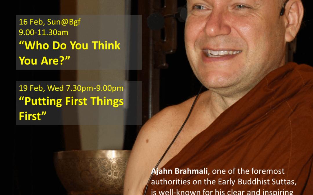Sun@BGF – Ajahn Brahmali Public Talk – Who Do You Think You Are?