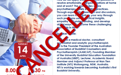 Notice of Cancellation of 14 Apr Talk by Dr Tan Eng Kong