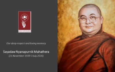 Passing Away of Sayadaw Nyanapurnik Mahathera (1939-2020)